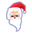 santa claus icon sticker vector image vector image