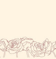 seamless bottom border made of rose flowers vector image vector image