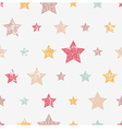 Seamless childish pattern with stars Grunge style vector image