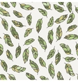 seamless pattern of feathers Doodle vector image vector image