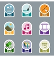 Set of file type icons vector image vector image