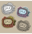 Set of Sale Nature Labels vector image vector image