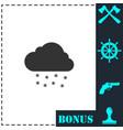 snow icon flat vector image vector image