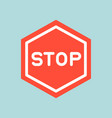 stop sign icon traffic icon flat design vector image