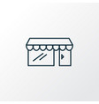 storefront icon line symbol premium quality vector image