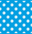 sun pattern seamless blue vector image