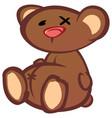 teddy bear cartoon character vector image vector image