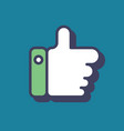 thumb up icon blue logo like symbol flat vector image