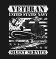 veteran us navy silence service vector image vector image