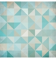 Vintage blue triangular background vector image vector image