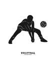 volleyball player silhouette volleyball player vector image