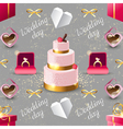 Wedding seamless on grey background