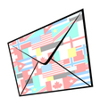 world mail vector image vector image