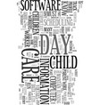your computer as day care worker text word cloud vector image vector image