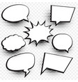 empty comic chat bubble and element background vector image