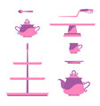 vintage tea service vector image