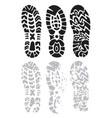 footprint shoes vector image
