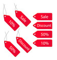 3d discount labels set vector image vector image