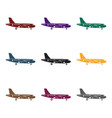 airplane icon in black style isolated on white vector image vector image