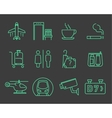 Airport navigation icons set vector image