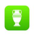 ancient jug icon digital green vector image