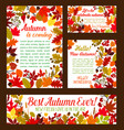 autumn posters banner of leaf fall vector image vector image