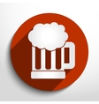 beer mug web icon vector image vector image