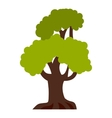 Big tree icon flat style vector image vector image