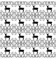 black christmas deer and snowflake seamless vector image
