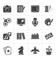 Black Hobbies and leisure Icons vector image vector image