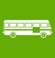 bus icon green vector image