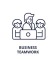 business teamwork line icon concept business vector image vector image
