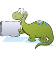 Cartoon Brontosaurus vector image vector image