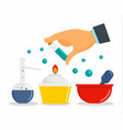chemical laboratory concept background flat style vector image vector image