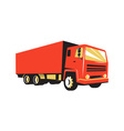 closed delivery van truck retro vector image vector image