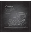 Cocktail Caipirinha on black board vector image vector image