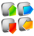 colorful bold arrow icons arrows pointing to vector image vector image