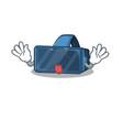 cute vr virtual reality cartoon mascot style vector image vector image
