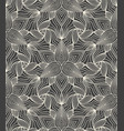 detailed linear engraving abstract floral pattern vector image vector image