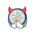 devil factom coin mascot cartoon vector image vector image