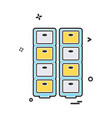 drawer icon design vector image