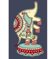 ethnic colored drawing of circus theme - elephant vector image vector image