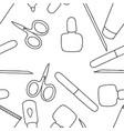 fashion coloring book beauty nail art vector image
