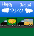 festival of italian pizza at the international vector image