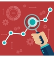 Flat of web analytics vector image