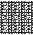 Geometric monochrome seamless pattern vector image vector image