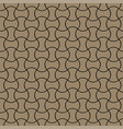golden linear simple seamless pattern 3d style vector image vector image