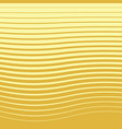 halftone pattern from golden wavy lines vector image