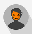 Halloween Avatar Icon vector image vector image