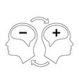 head icon for bipolar disorder vector image